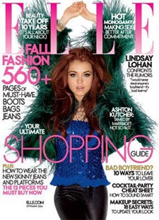 Illustration for article titled Lindsay Lohan On Cover Of September 'Elle': Way More Than 'Adequite'