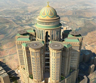 Illustration for article titled This Insane Luxury Hotel Will Transform Mecca into Disneyland