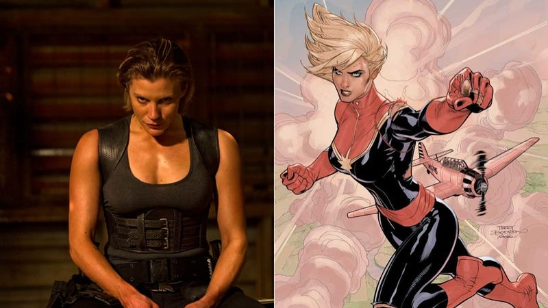 Illustration for article titled Let the Captain Marvel movie-starring-Katee Sackhoff rumors begin
