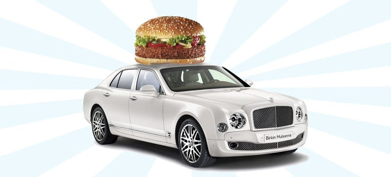 Illustration for article titled A Bentley Mulsanne Uses 36,000 Burgers Worth Of Cow