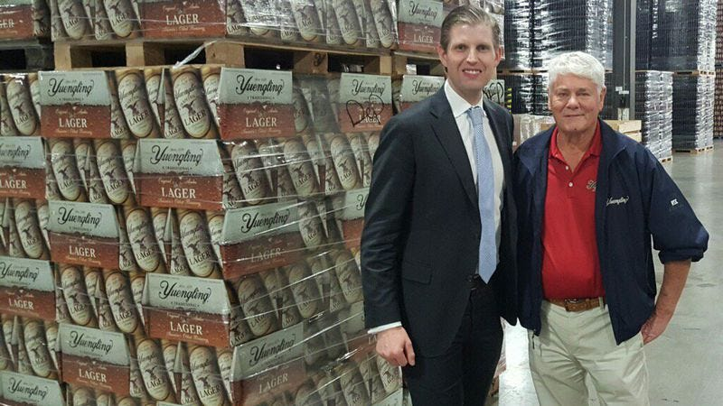 Eric Trump and Dick Yuengling (Photo: Eric Trump's Twitter)