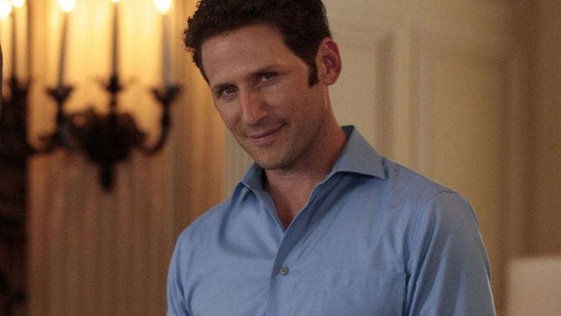 Maybe he's eyeing the fridge (Photo: Royal Pains)