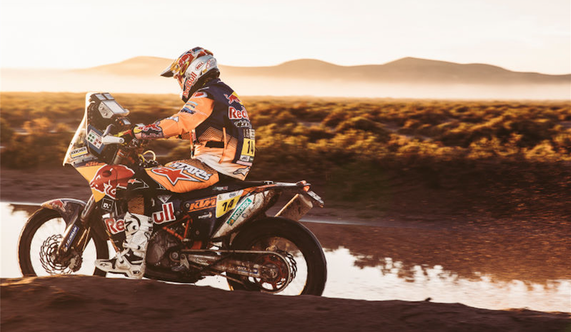 Bikes winner Sam Sunderland, who became the first competitor from Britain to win the Dakar Rally. Photo credit: Flavien Duhamel/Red Bull Content Pool