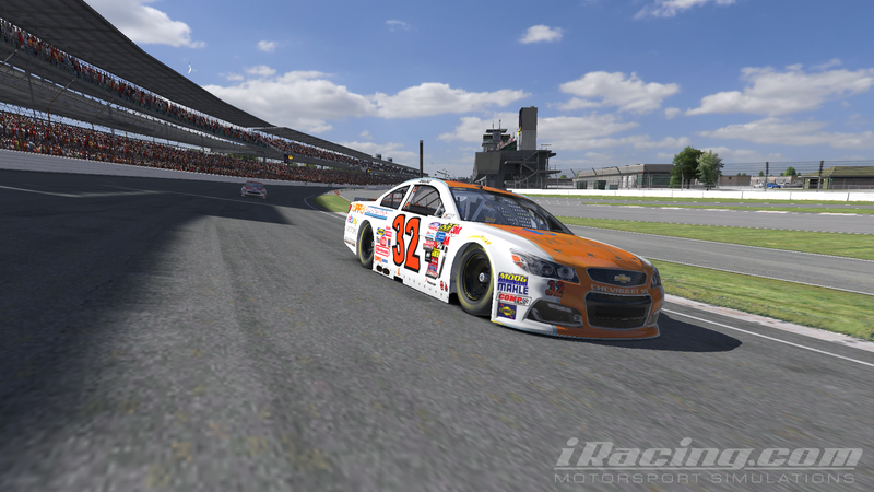 Illustration for article titled Team Oppo Competes in the iRacing Brickyard 400