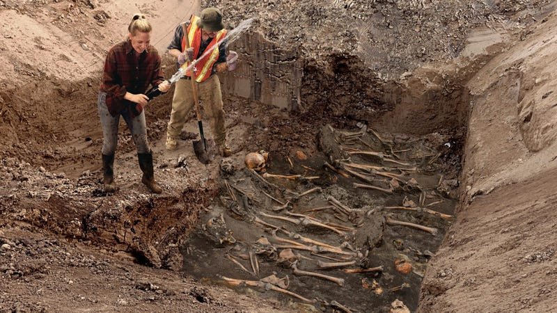 Illustration for article titled Excited Archaeologists Hit Mass Grave Jackpot