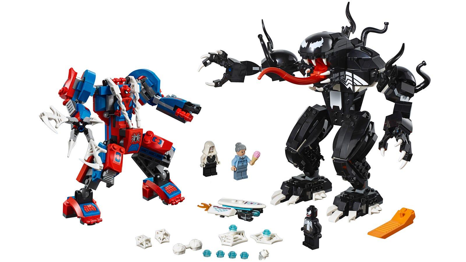 Sdcc Reveal Lego Super Heroes Spider Man Mech Vs Venom Mech