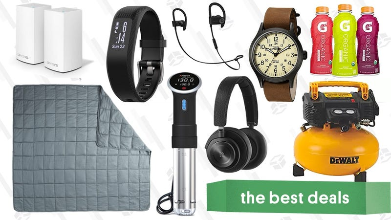 Illustration for article titled Wednesday's Best Deals: 20 Pound Blanket, Sous-Vide, Mesh Wi-Fi Router, and More