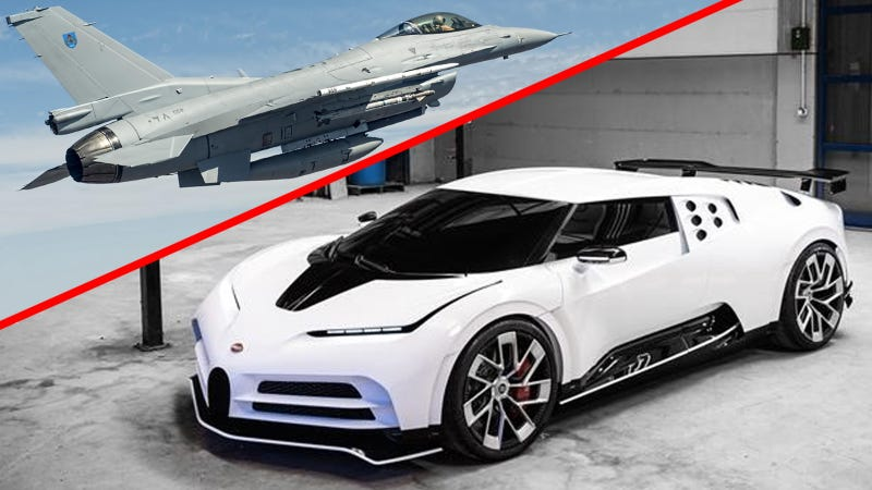 Why Buy A Bugatti Centodieci When You Can Have This F-16 Fighter Jet For Less?