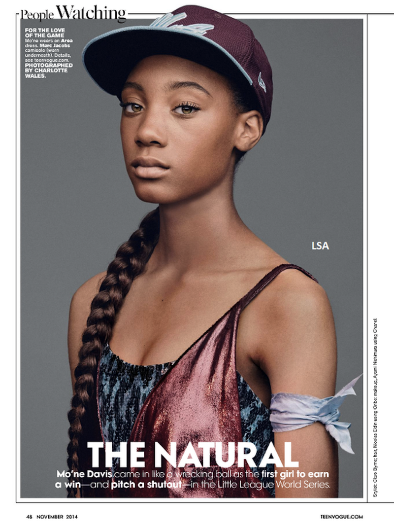 Illustration for article titled Mo'ne Davis Looks Gorgeous in Teen Vogue