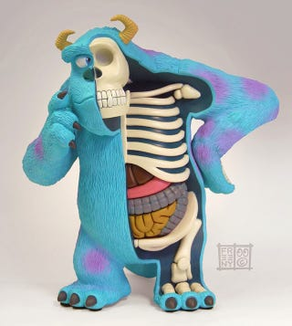 Illustration for article titled Dissection reveals the insides of Sulley from Monsters Inc.