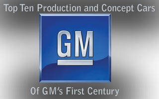 Illustration for article titled GM Presents Its Top Ten Production Cars and Top Ten Concept Cars