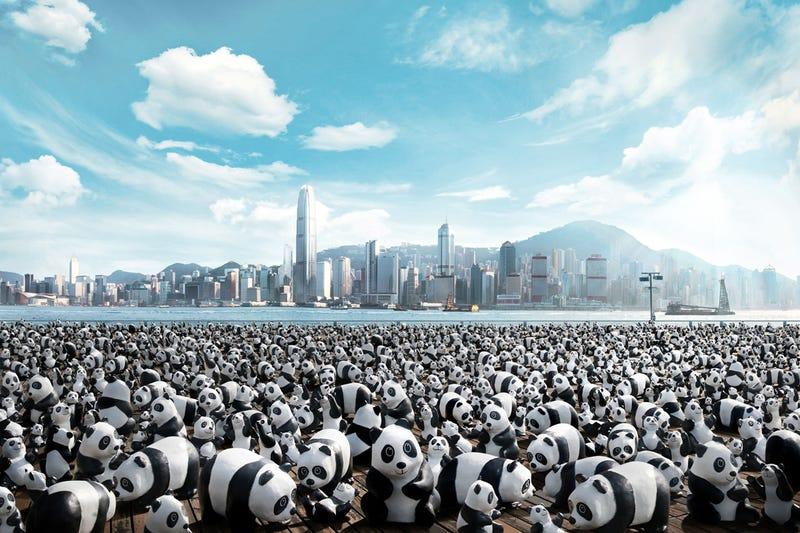Illustration for article titled 1,600 Papier-Mâché Pandas Are Set To Invade Hong Kong
