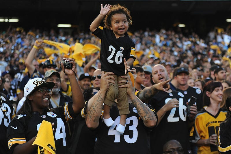 Pittsburgh Steelers fans watch the action during a game against the San Diego Chargers at Qualcomm Stadium on Oct. 12, 2015, in San Diego.Donald Miralle/Getty Images