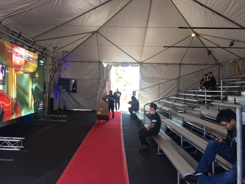 "The ""overflow"" tent for the Halo 5 World Championship. Image credit: Frank."