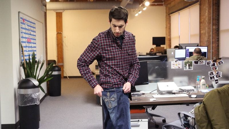 Illustration for article titled Humiliated Man Discovers Embroidery On His Jean Pockets