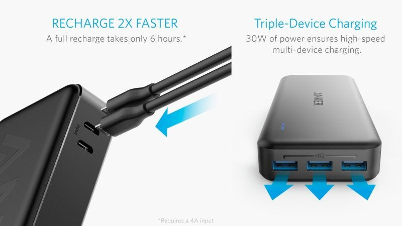 Anker PowerCore II, $35 with code ANKPWR66