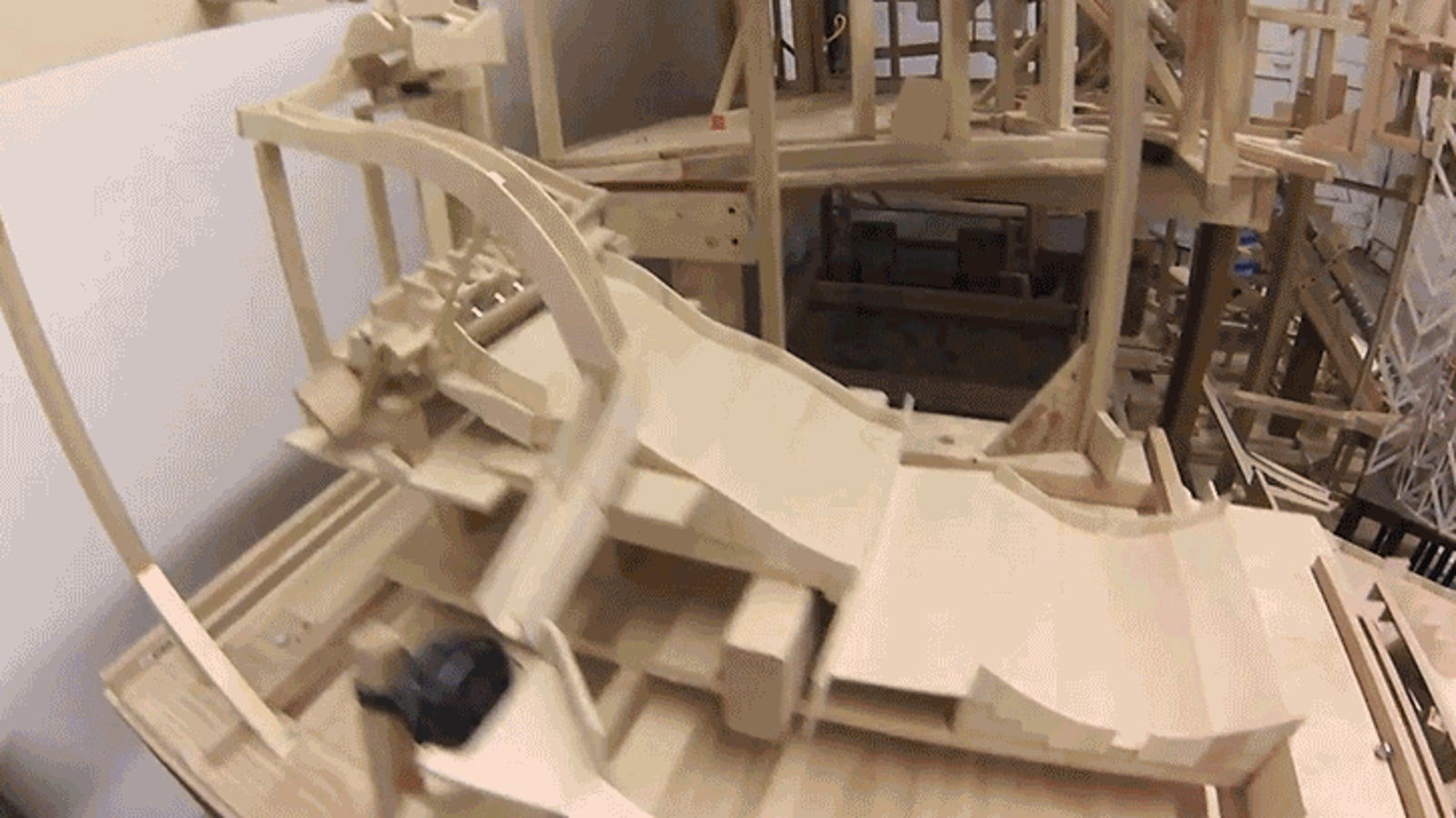 A Massive Eight-Feet Tall Mountain Marble Maze Is Better Than Watching a Movie