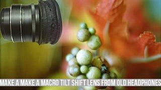 Illustration for article titled Make Your Own DIY Macro Tilt Shift Lens with Old Headphones