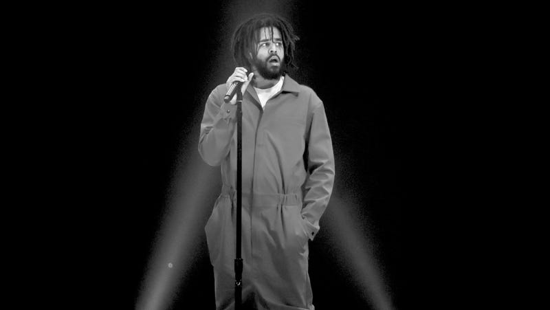 J. Cole performing in Inglewood, Calif., on July 11, 2017