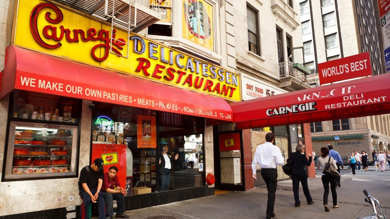 The original Carnegie Deli in New York City, photographed in 2011