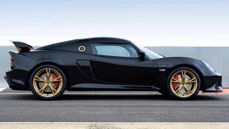 Illustration for article titled Lotus Exige LF1 Is Your New Favorite Black And Gold Track Day Hot Rod