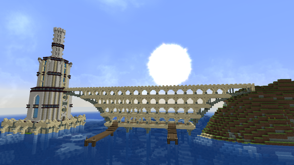 Huge Minecraft Desert City Was Built By One Player Over 20