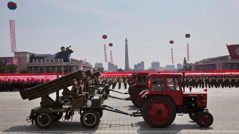 Illustration for article titled The Retro-Futuristic Spectacle of Military Parades in North Korea