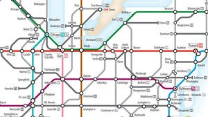 Us Highway As A Subway Map.Plan Your Next Road Trip With The Ingenious U S Interstates Subway Map