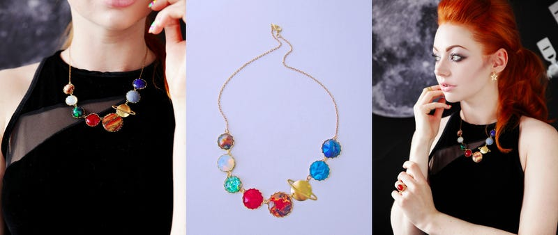 Illustration for article titled Celebrate Your Love of Space With This Solar System Necklace