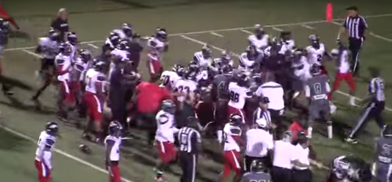Illustration for article titled Massive Brawl Breaks Out At High School Football Game In Texas