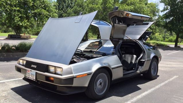 back to the past with a delorean. Black Bedroom Furniture Sets. Home Design Ideas
