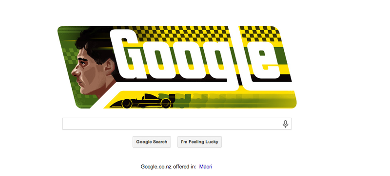Illustration for article titled This Google Doodle Is A Salute To Ayrton Senna