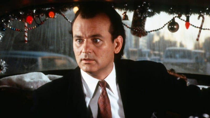 Bill Murray in the original Scrooged.