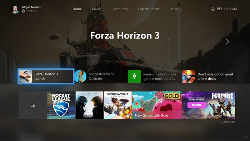Illustration for article titled The Next Xbox One Dashboard Update Lets Players Customize Their Home Screen