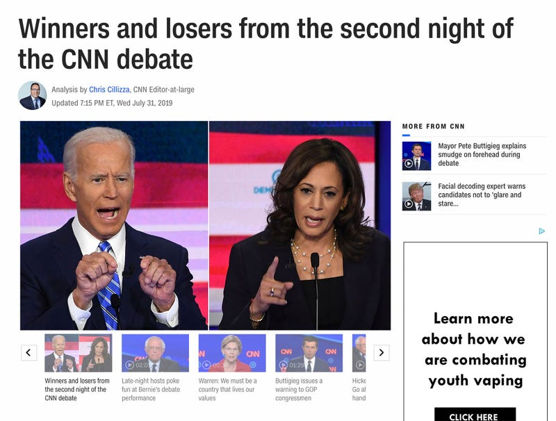 Illustration for article titled CNN Publishes Winners And Losers Of Wednesday Night Debate 45 Minutes Before Broadcast