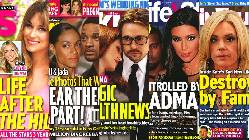 Illustration for article titled This Week in Tabloids: Kanye Has Crafted a Hell-Wedding for Kim