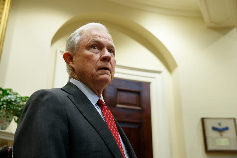 Attorney General Jeff Sessions in the White House in Washington on March 28, 2017 (AP Photo/Evan Vucci)