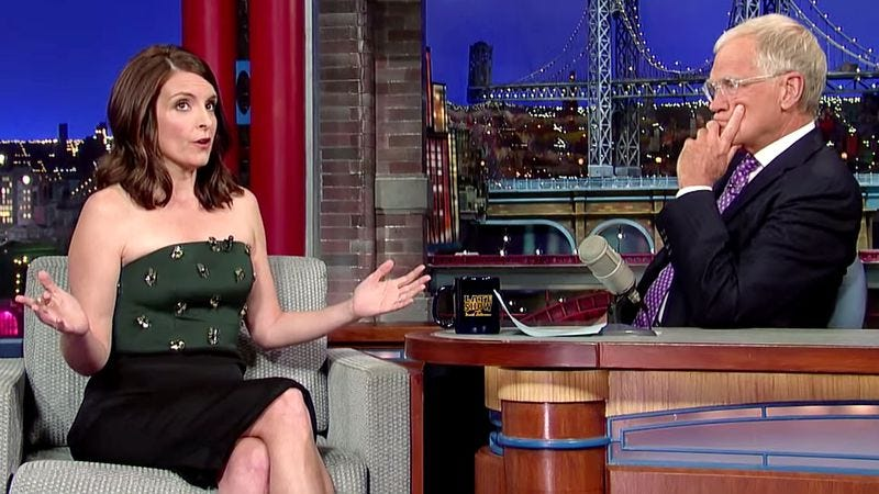 Tiny Fey on Late Show With David Letterman in 2014