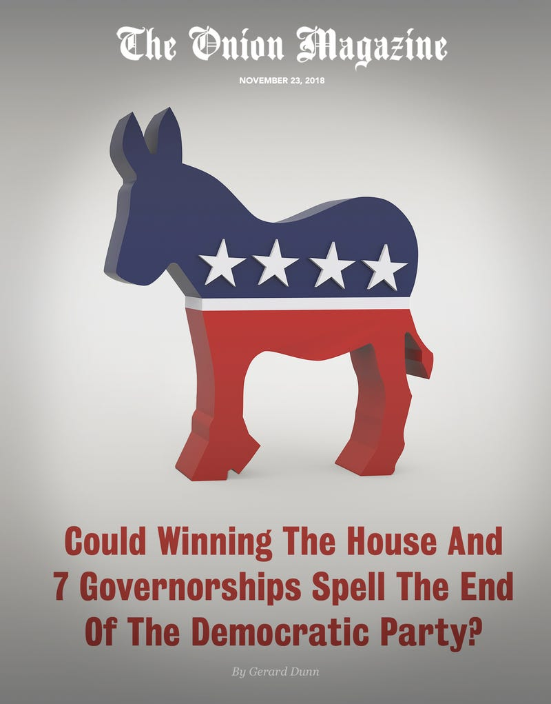 Illustration for article titled Could Winning The House And 7 Governorships Spell The End Of The Democratic Party?