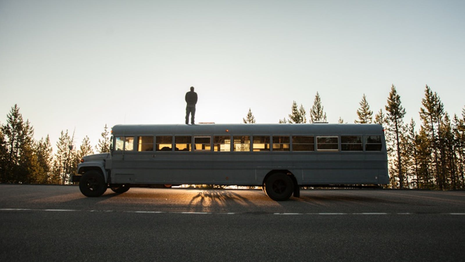 Architecture Student Converts School Bus Into Cozy Home