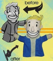 Illustration for article titled Fallout 3 Vault Boy Puppets!!!