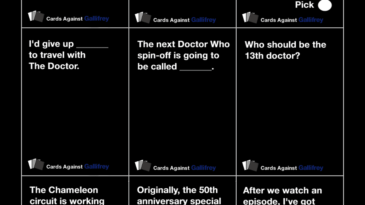 photo about Cards Against Humanity Printable known as Print out the Health care provider Who edition of Playing cards Versus Humanity