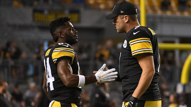 """Illustration for article titled Antonio Brown Criticizes Ben Roethlisberger For Having An """"Owner Mentality"""""""
