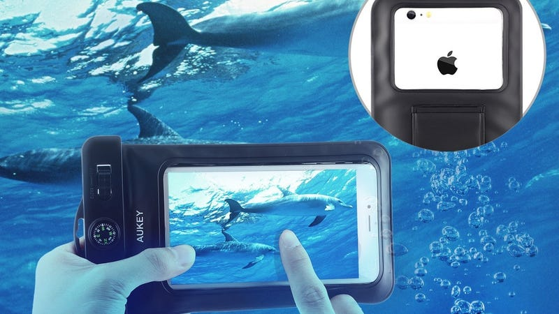 Aukey Waterproof Case With Armband and Lanyard, $5 with code AUKCASE8
