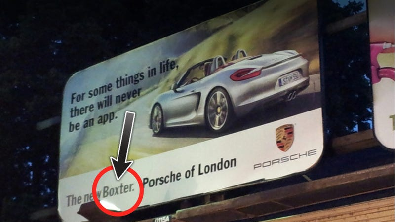 Illustration for article titled Porsche Misspells The Name Of Their Own Car On Billboards