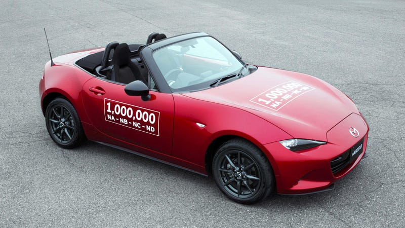 Illustration for article titled Of Course The 1 Millionth Mazda Miata Is Soul Red
