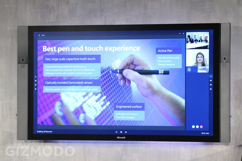 Illustration for article titled Microsoft Surface Hub: An 84-Inch 4K Do-It-All Display
