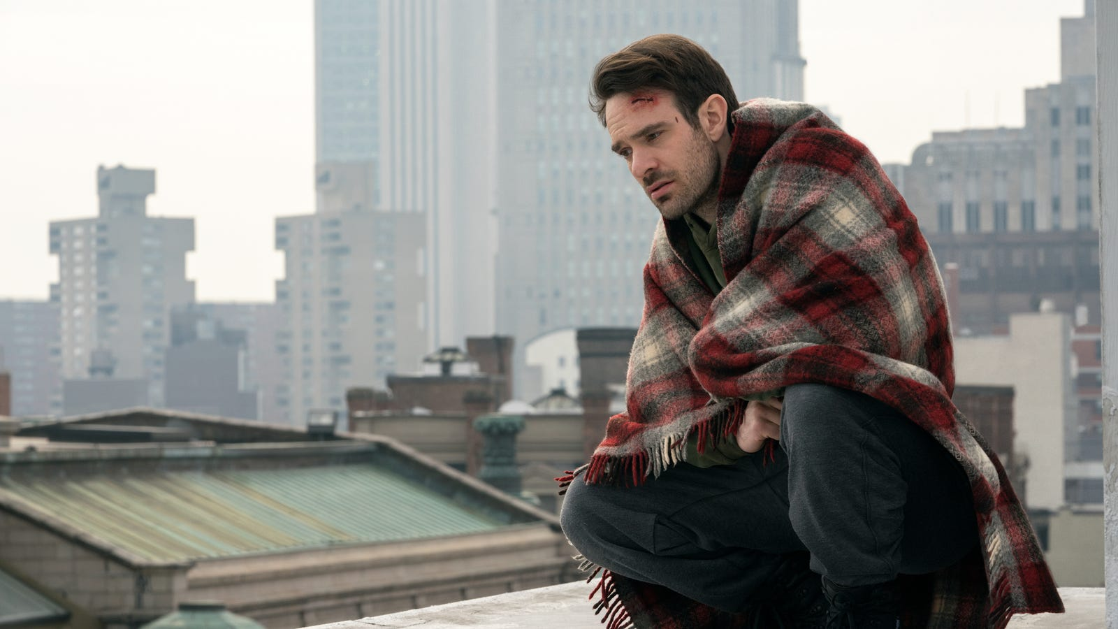 A image clip of Charlie Cox as Matt Murdock a.k.a Daredevil from the Daredevil Netflix series