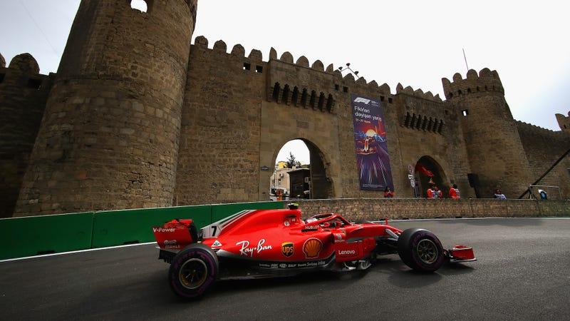 Kimi Räikkönen at the Azerbaijan Grand Prix.