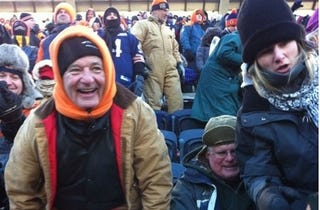 """Illustration for article titled Bill Murray To Packer Fan At Soldier Field Last Sunday: """"Nitschke is a pussy."""""""